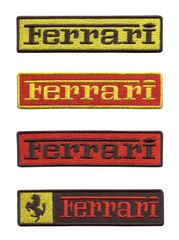 Ferrari Script Patch 11cm (4 Colors Inside)