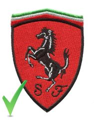 Ferrari Patch Red and Black 10cm x 7cm