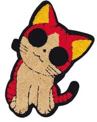 XXL Chenille Kitty Cat Patch (26cm)
