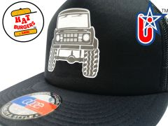 smARTpatches Truckers 70's Muscle Car Hot Rod Truck Trucker Hat (Solid Black)