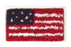 American Flag USA Chenille Patch (9cm x 5.5cm)