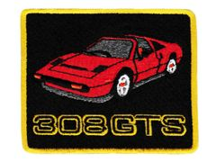 Vintage Syle Italian Sports Car Patch 308 GTS 8.5cm