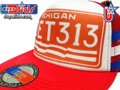 smARTpatches Truckers 79eighty Michigan 1976 License Plate DET 313