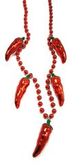 "42"" Chili Pepper Beads 3 pcs."
