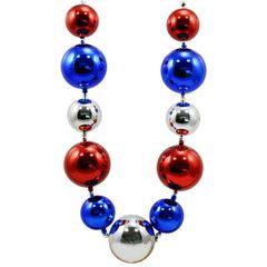 60mm-80mm Patriotic Big Balls Necklace