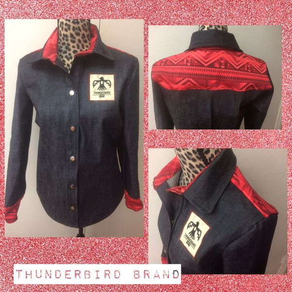 Red Aztec button up