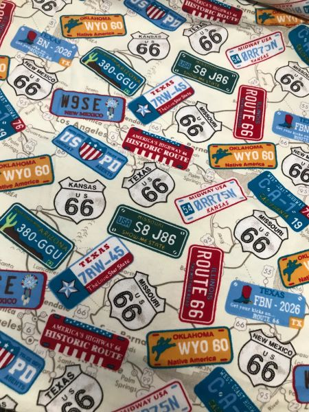 License plates on chambray pre order