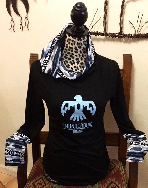 Blue Aztec pullover