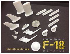 F-18 Scale Detail Parts Set - 1/6 Scale