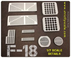 F-18 Scale Integrated Surface Details - 1/7 Scale