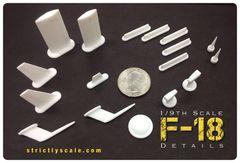 F-18 Scale Detail Parts Set - 1/9 Scale