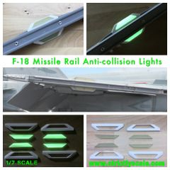F-18 Missile Rail Glow-in-the-dark Formation lights 1/6 Scale