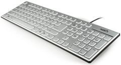 Natec Keyboard STARFISH SLIM silver USB