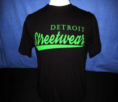 Detroit Streetwear T-shirt Black (green print)