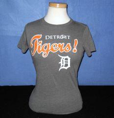 Detroit Tigers Ladies T-shirt - Gray