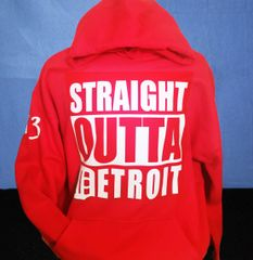 Straight Outta Detroit - Red Hoodie