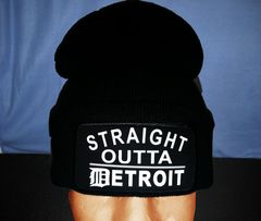 Straight Outta Detroit Skull Cap - Black