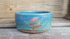 Blue landscape bowl