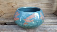 Blue landscape bowl #2