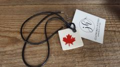 Maple leaf necklace square