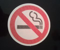 No Smoking Design Silly Patch