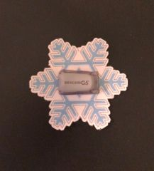 Christmas Snowflake Design Silly Patch