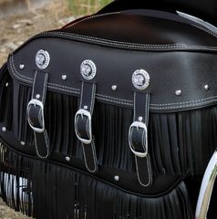 GENUINE LEATHER UPPER SADDLEBAG FRINGE BLACK - 2879879-01