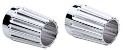 EXHAUST TIPS GROOVED BILLET CHROME - 2880799-156