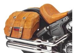 SADDLEBAGS - DESERT TAN LEATHER SET