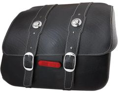 SADDLEBAG - BLACK LEATHER SET