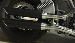 SLIP ON EXHAUST - SLASH CUT - BLACK W/ CHROME TIP - A-CI-1501