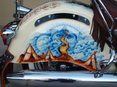 Painted Tank Logo  - AIR-BRUSHED - CUSTOM DESIGNS