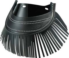 GENUINE LEATHER FRONT MUD FLAP BLACK W/FRINGE - 2879583-01