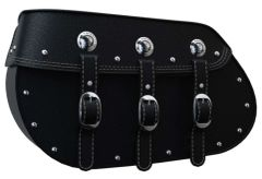 GENUINE LEATHER SADDLEBAGS BLACK - 2884005-02