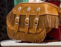 GENUINE LEATHER UPPER SADDLEBAG FRINGE DESERT TAN - 2879879-05