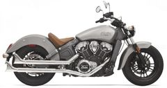 "SLIP ON Bassani 2-1/4"" Chrome Housing with Baffle and Fishtail End"