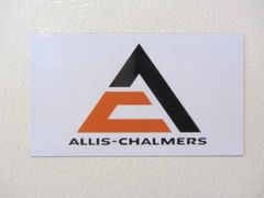 ALLIS CHALMERS TRIANGLE LOGO Fridge/toolbox magnet