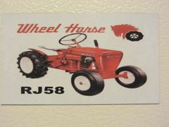 WHEEL HORSE RJ58 Fridge/toolbox magnet