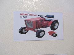 WHEEL HORSE 953 Fridge/toolbox magnet