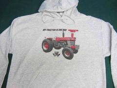 "MASSEY FERGUSON 1100 ""MY TRACTOR IS ONE BAD MF"" Hooded sweatshirt"