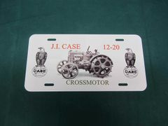 CASE 12-20 CROSSMOTOR LICENSE PLATE