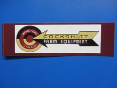 COCKSHUTT FARM EQUIPMENT Bumper sticker