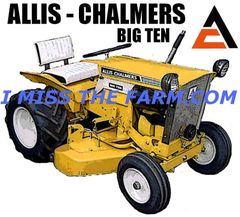 ALLIS CHALMERS BIG TEN Garden Tractor Coffee mug