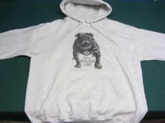 "AVERY BULL DOG ""TEETH TALK"" HOODED SWEATSHIRT"