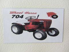WHEEL HORSE 704 Fridge/toolbox magnet
