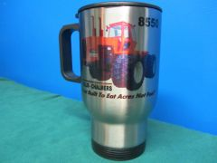 "ALLIS CHALMERS 8550 ""BEST BUILT TO EAT ACRES NOT FUEL"" TRAVEL MUG"