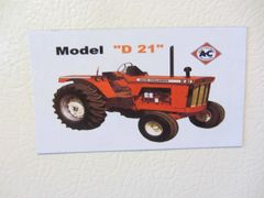 ALLIS CHALMERS D21 Fridge/toolbox magnet