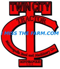 TWIN CITY TRACTORS LOGO KEYCHAIN
