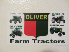 OLIVER FARM TRACTORS Fridge/toolbox magnet