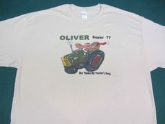"""OLIVER SUPER 77 """"SHE THINKS MY TRACTOR'S SEXY"""" TEE SHIRT"""